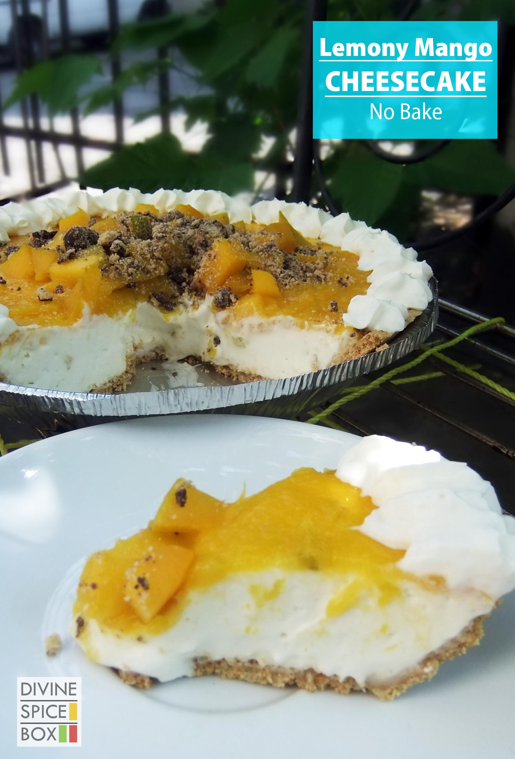 Lemon Mango Cheesecake - no Bake