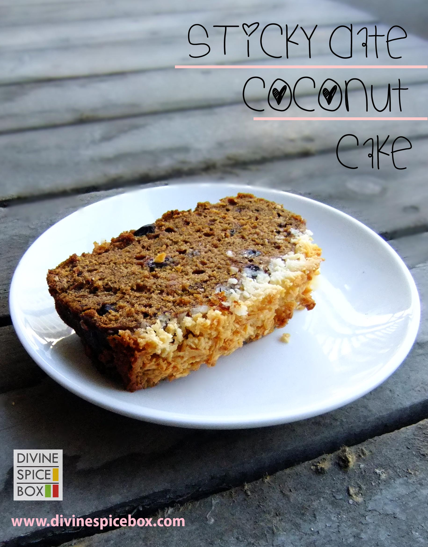sticky date coconut cake