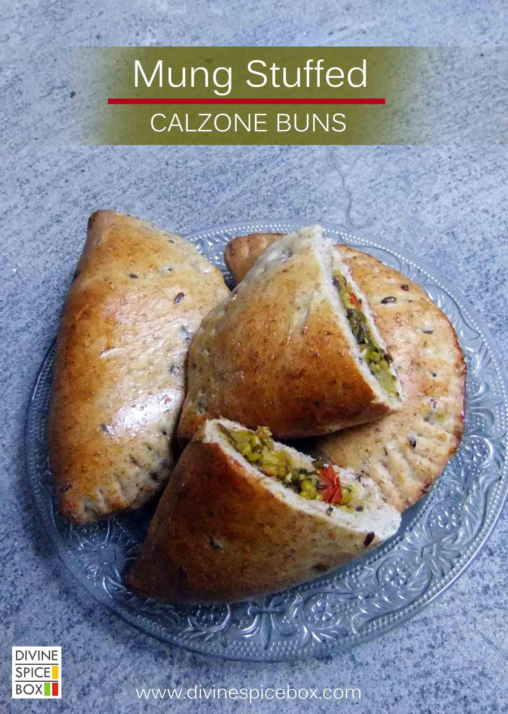 mung stuffed calzone bun