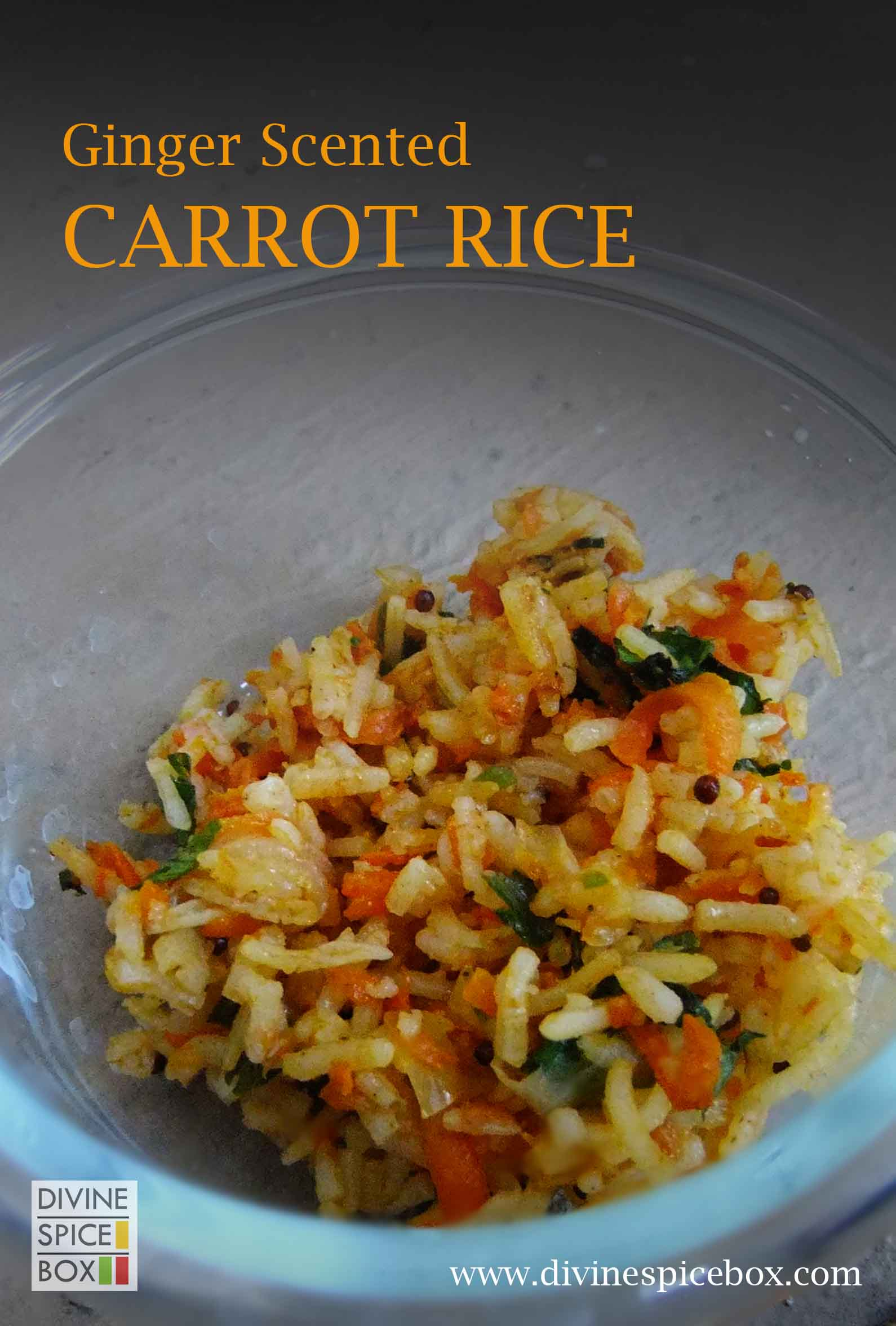 ginger scented carrot rice copy