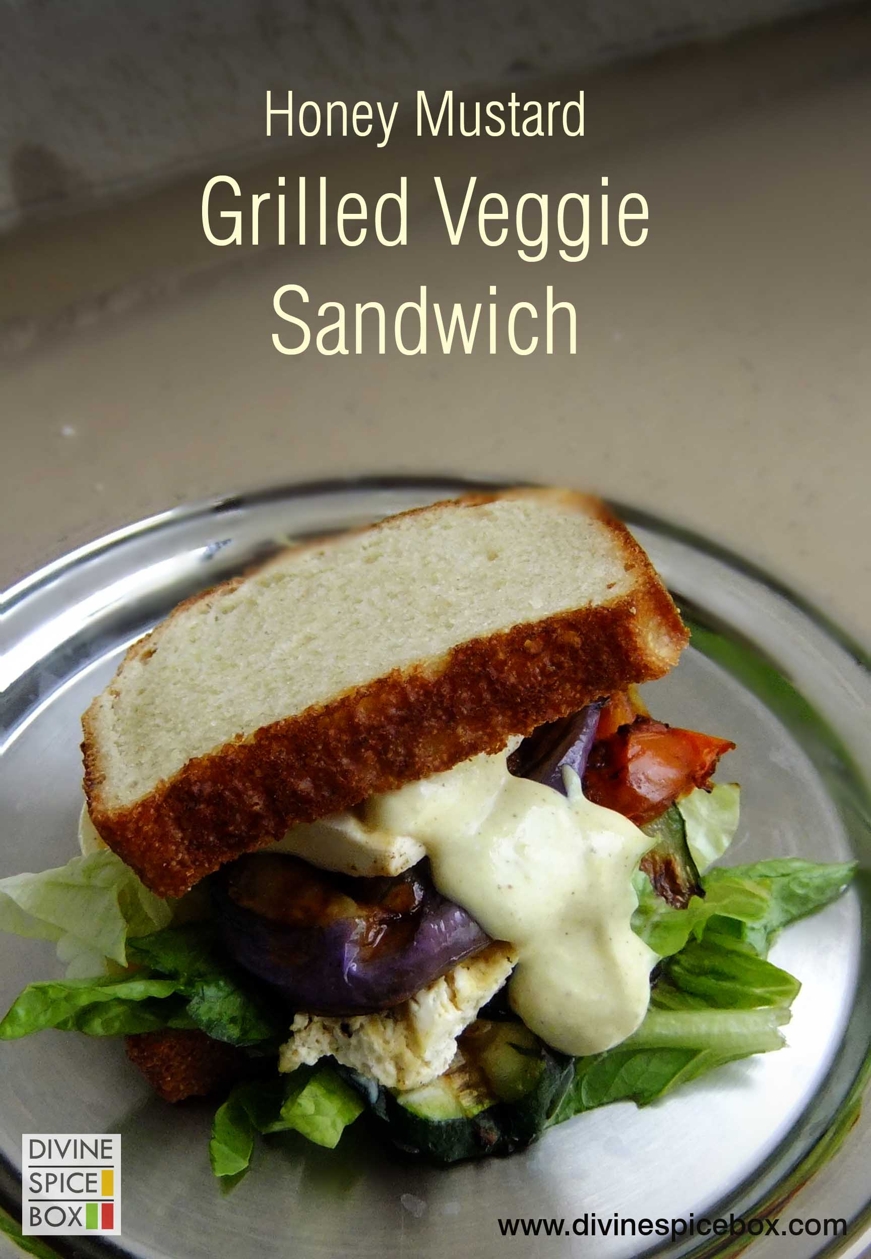 honey mustard grilled veggie sandwich copy