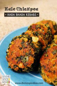 kale chickpea hara bhara kebab