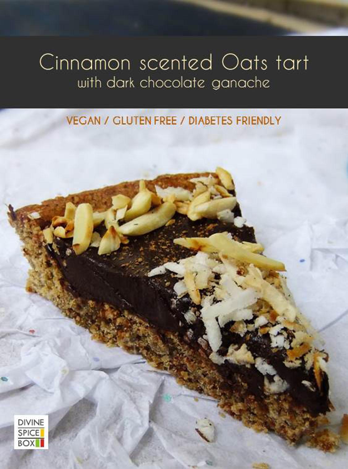 oats dark chocolate tart