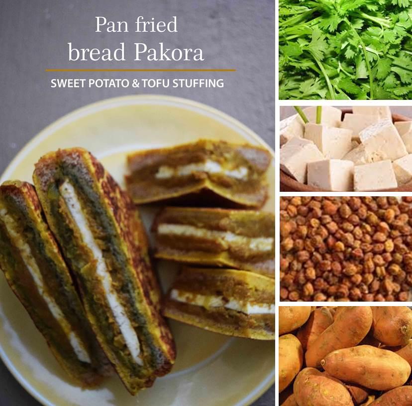 Pan fried bread pakora 1a