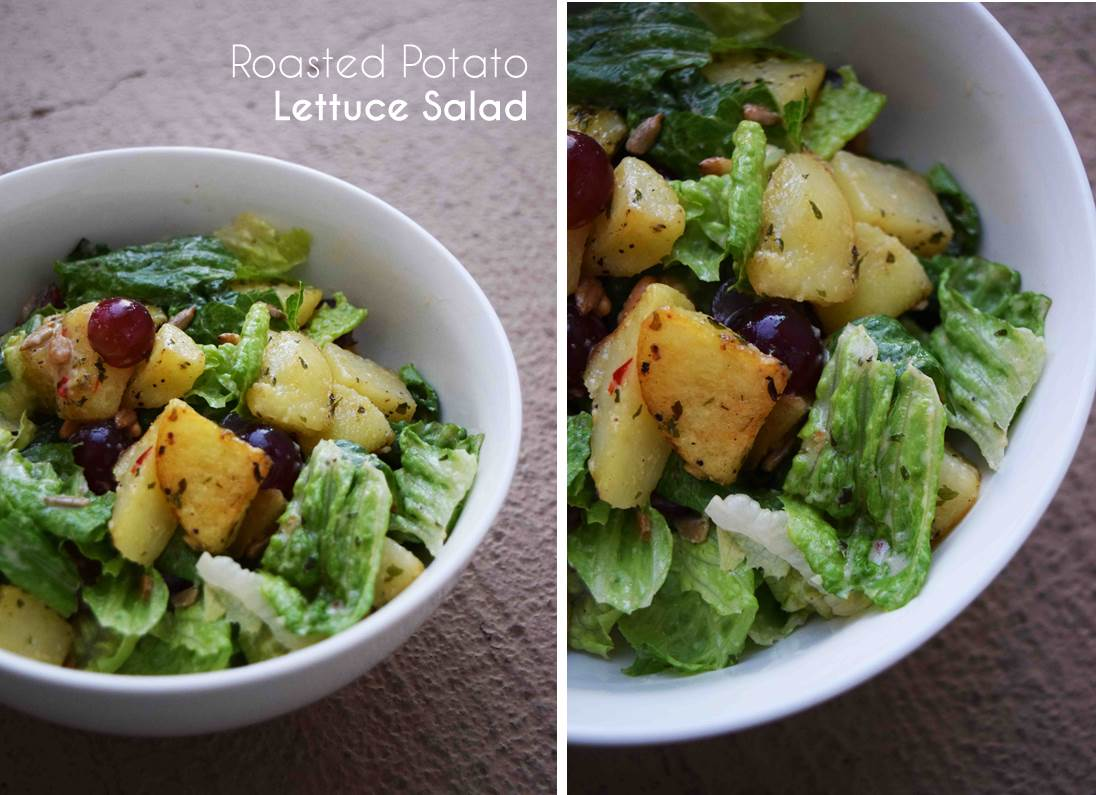 potato lettuce salad