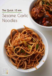 Sesame garlic noodles