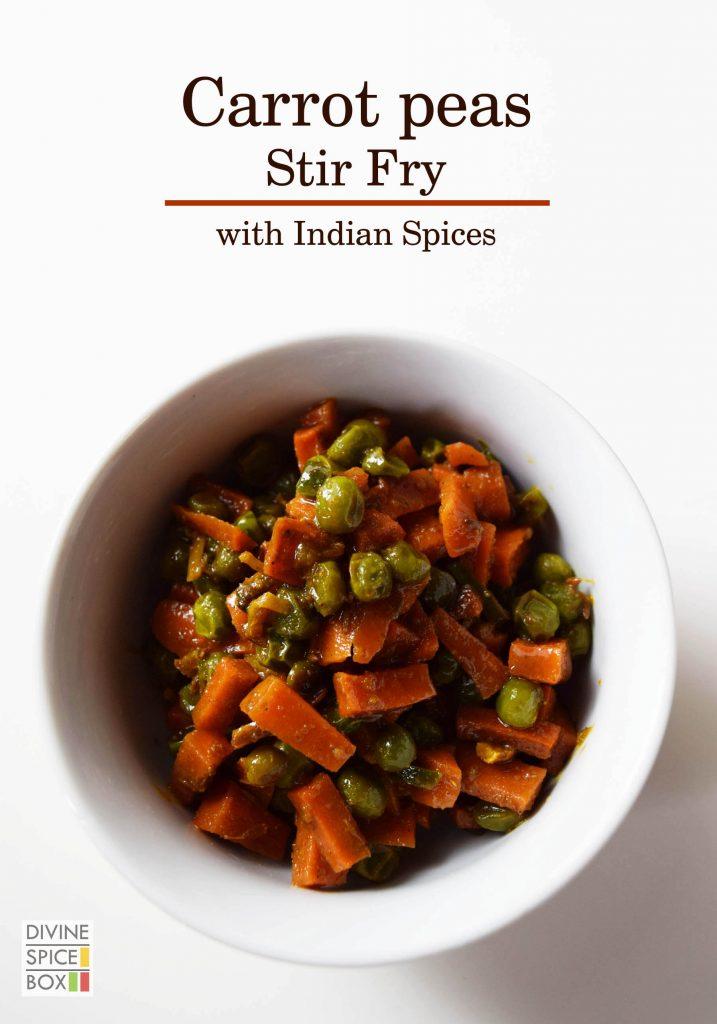 carrot peas stir fry