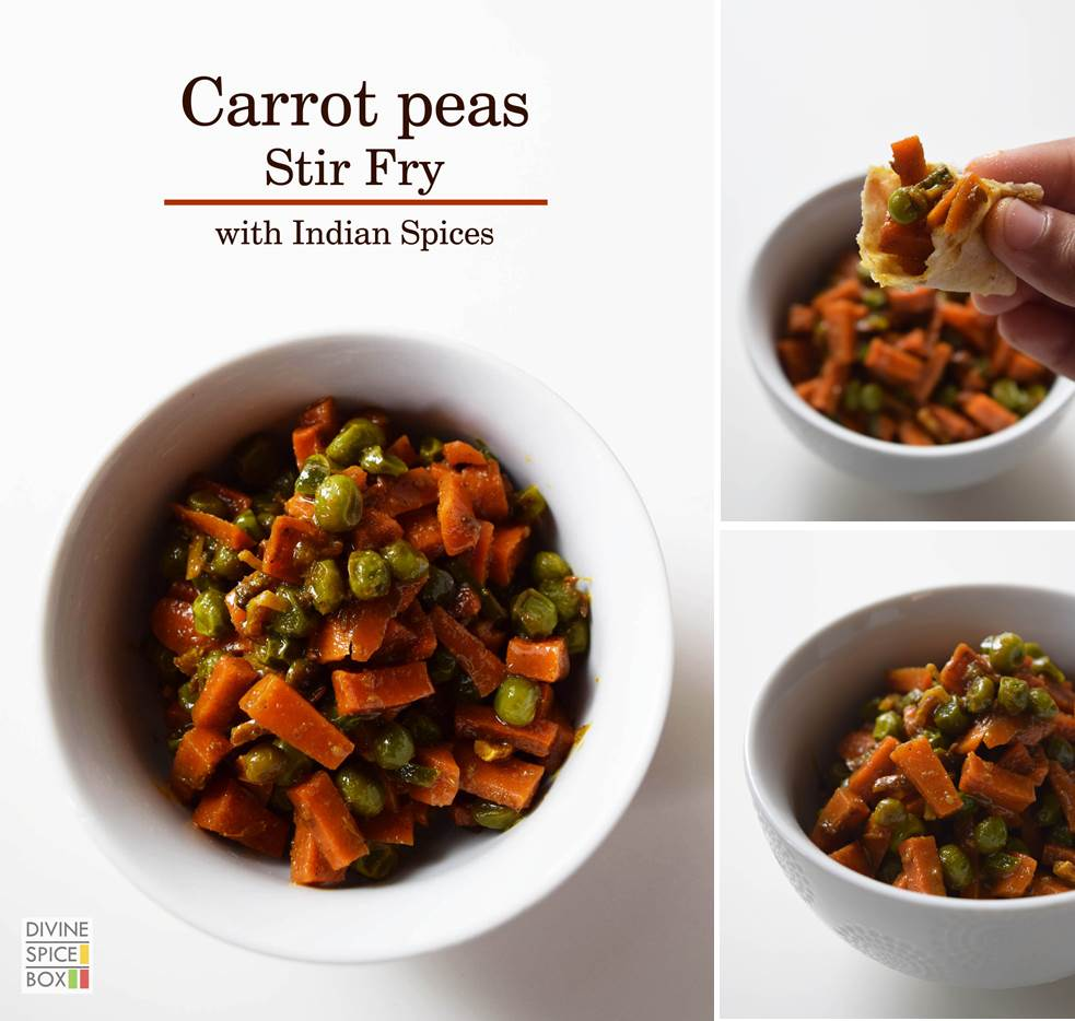 carrot peas sabzi