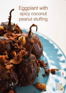 eggplant with spicy coconut peannut stuffing