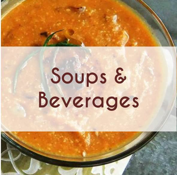 SOUPS AND BEVERAGES