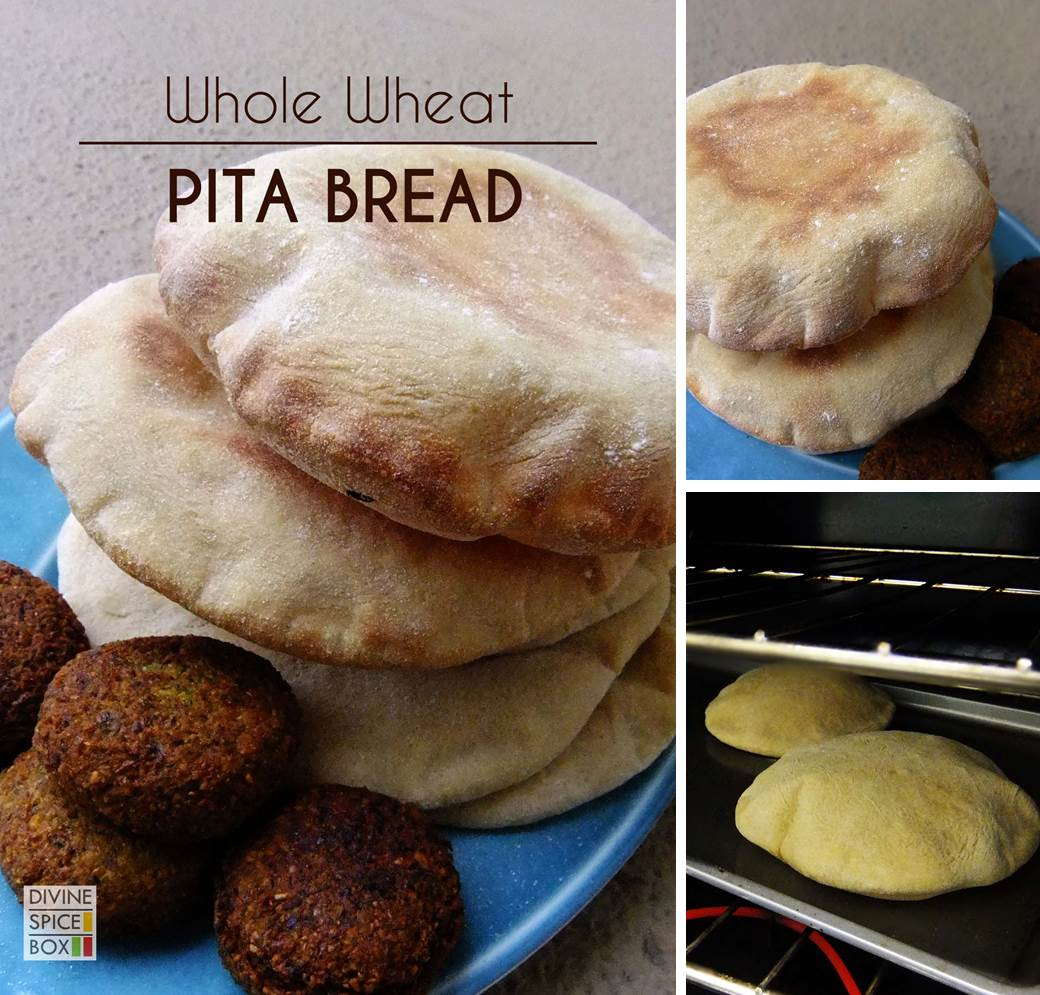 whole wheat pita bread 1