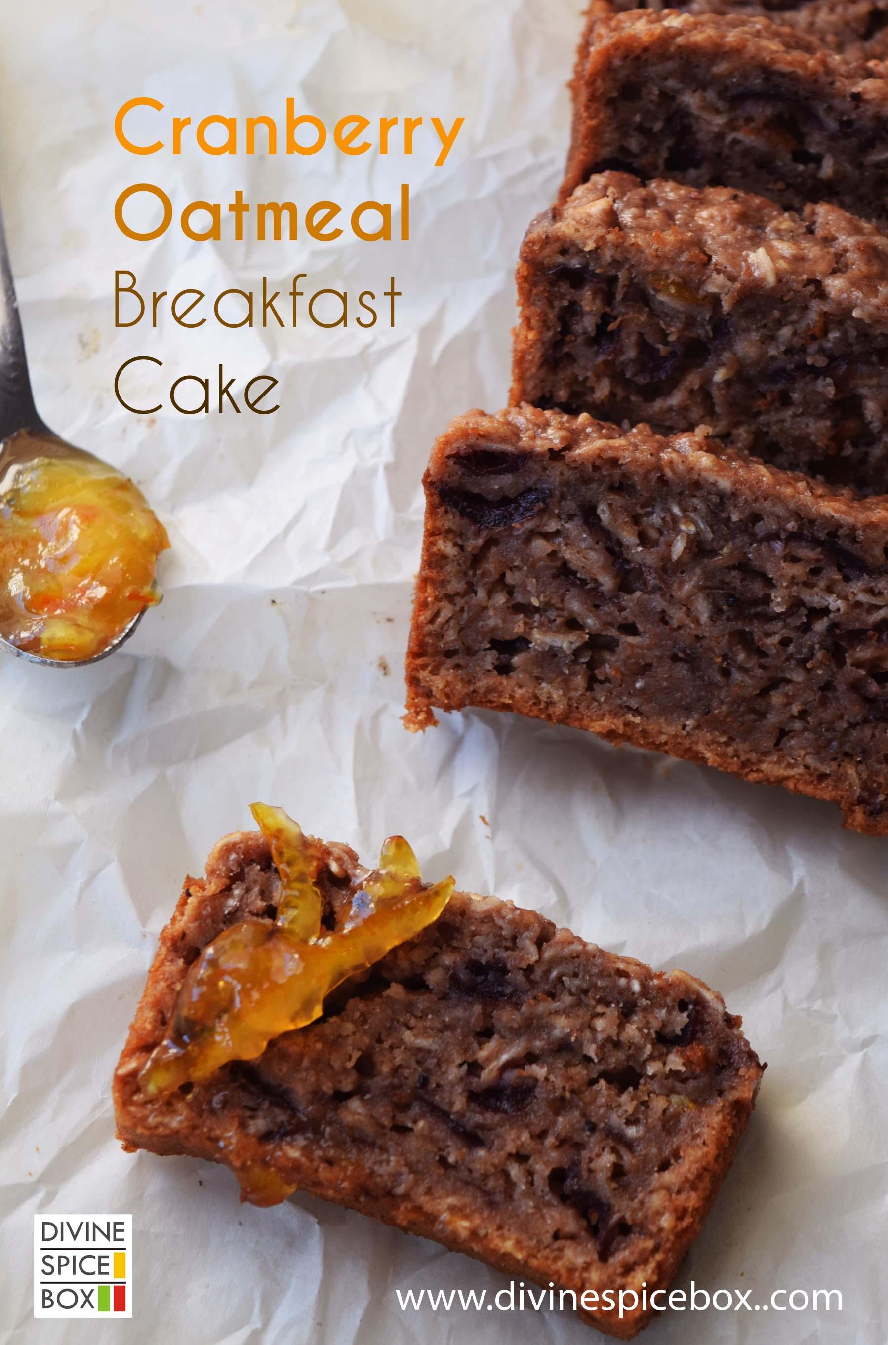 Cranberry Oatmeal Breakfast Cake