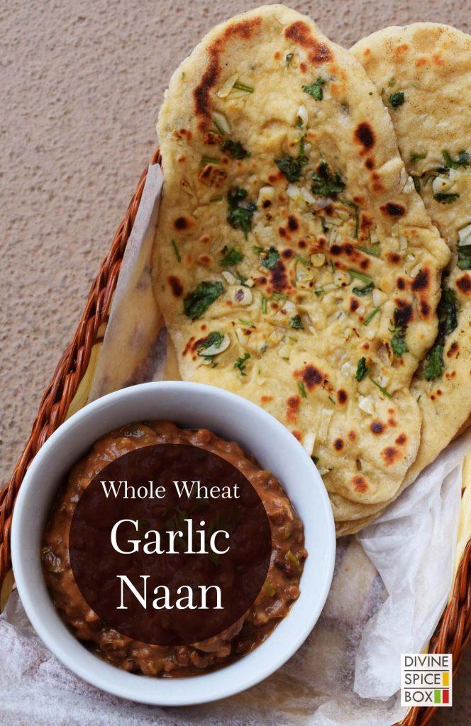 whole wheat Garlic Naan
