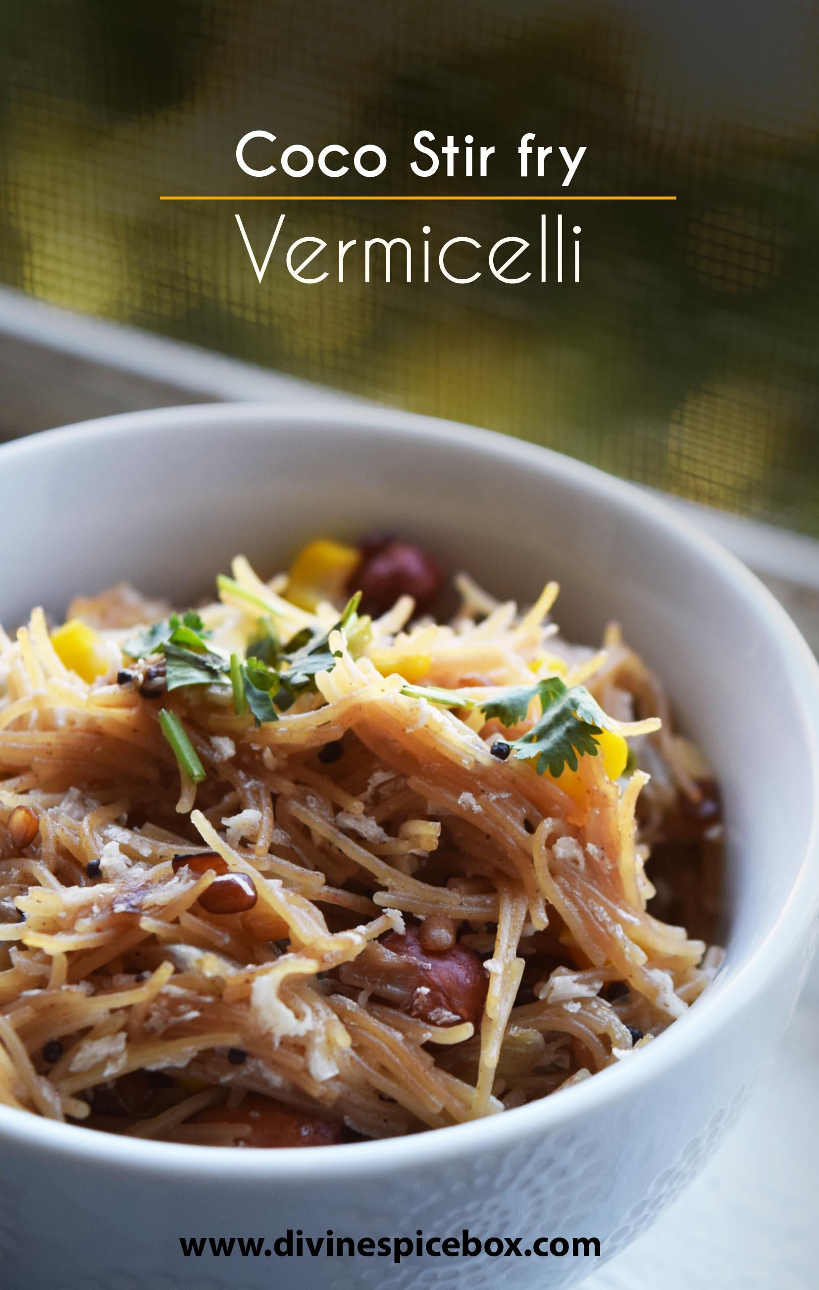 Coconut Stir Fry Vermicelli