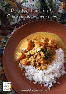Roasted Pumpkin and Chickpea Coconut Curry