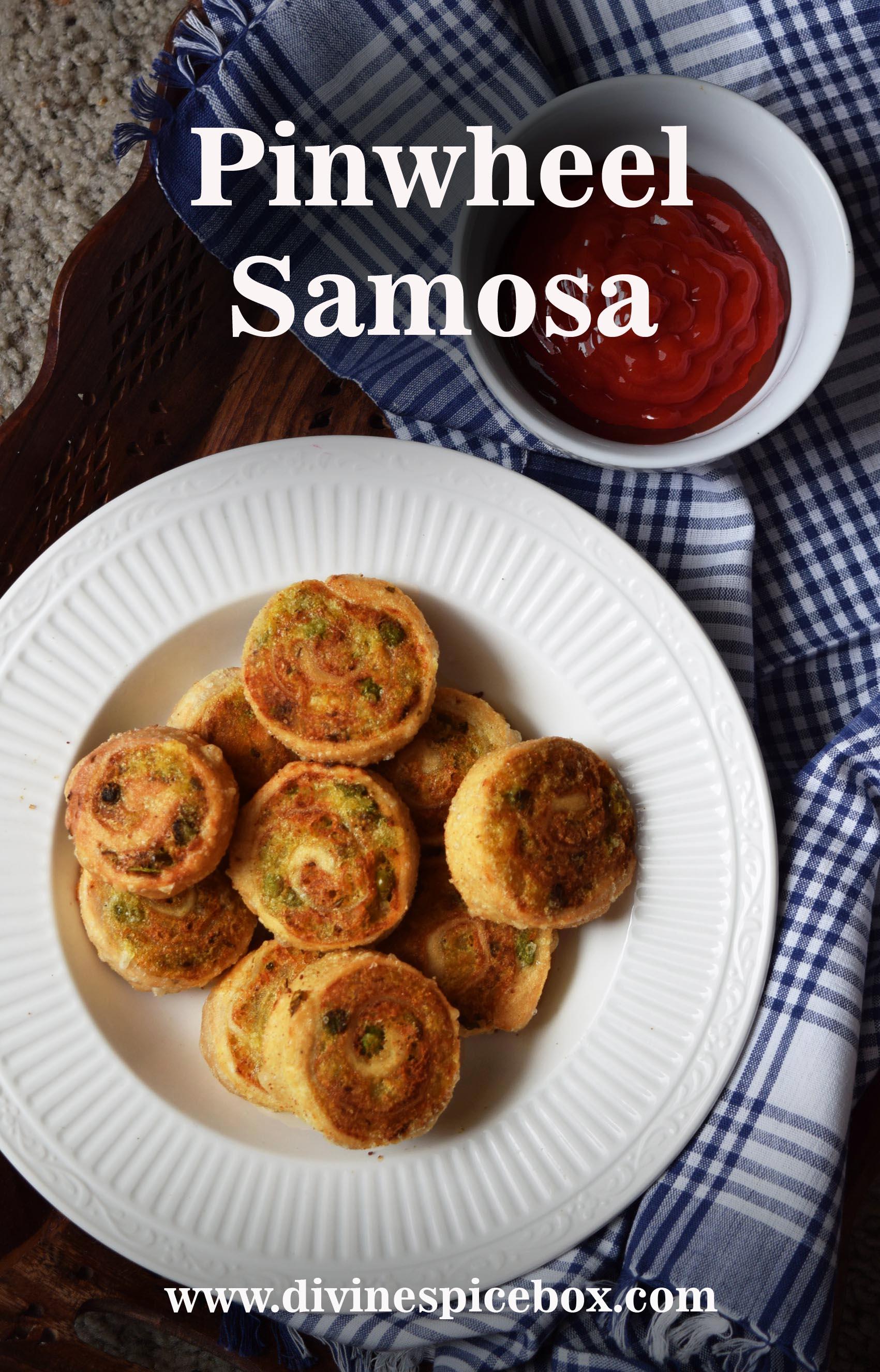 Piinwheel Samosa close up