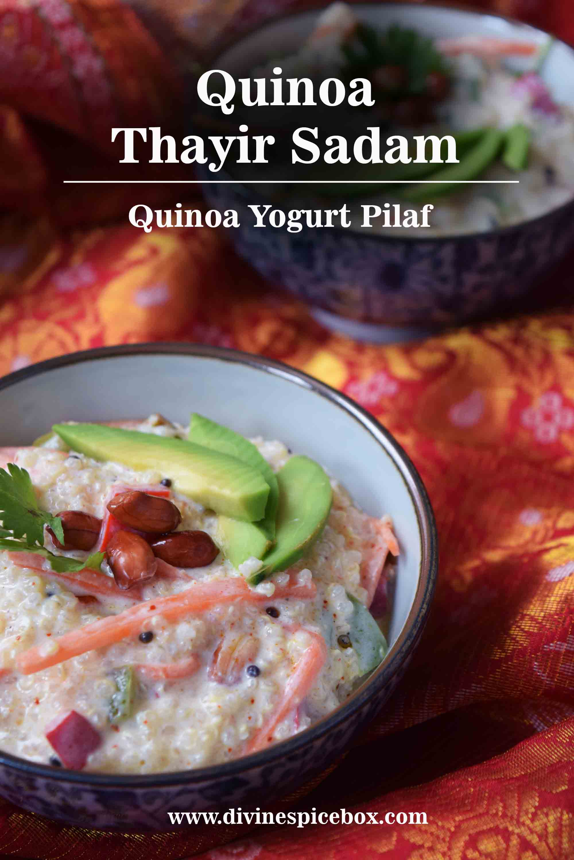 Quinoa Thayir Sadam - Quinoa Yogurt Pilaf