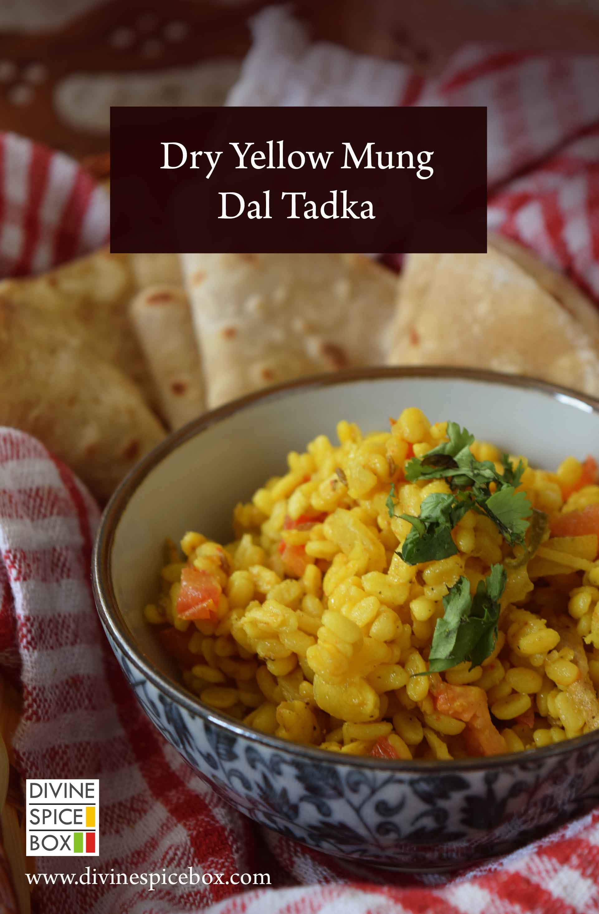 Dry Yellow Mung Dal Tadka