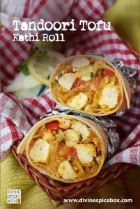 tandoori Tofu Kathi Roll