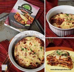 Jackfruit Mexican Lasagna