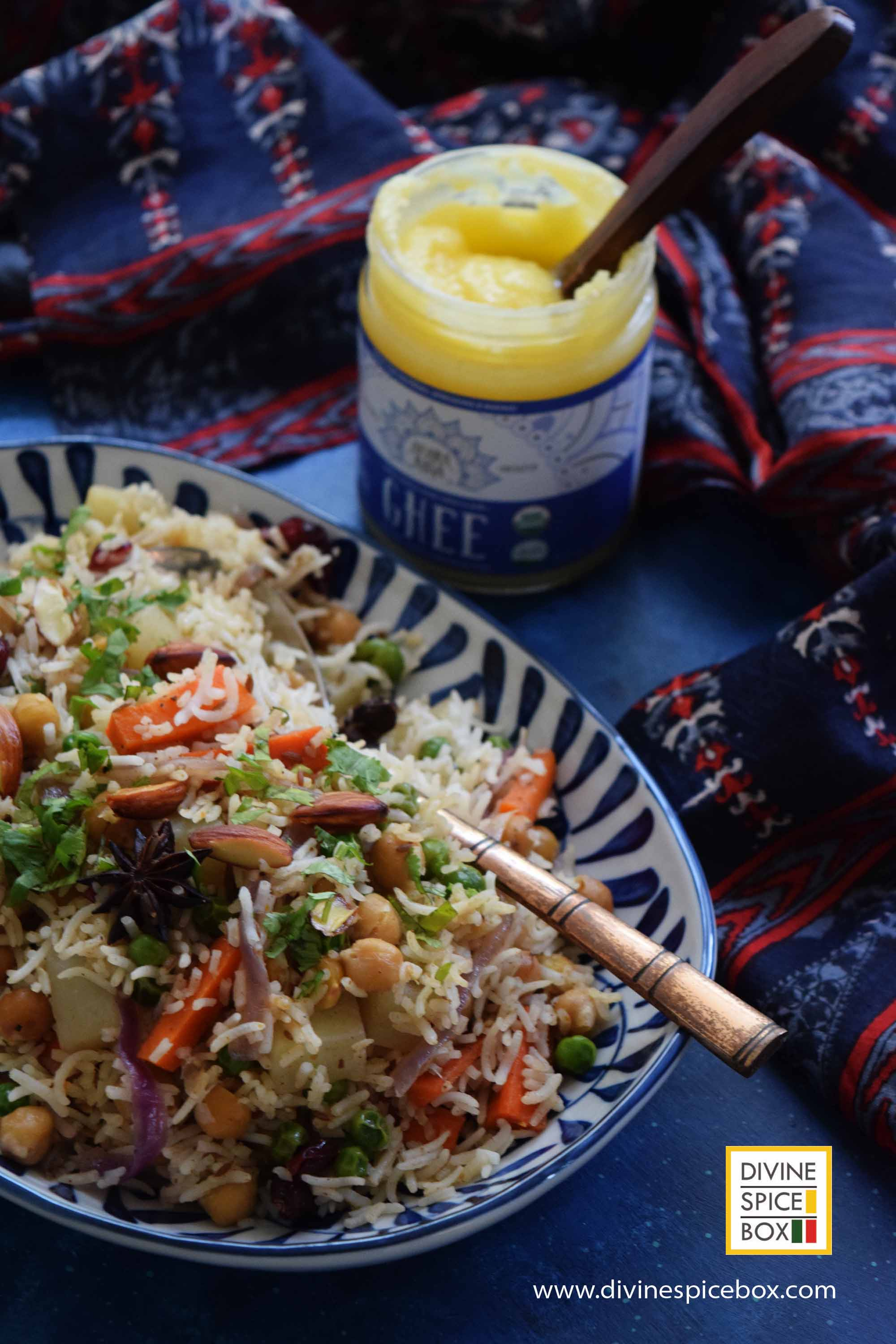 Close up - Chickpea Vegetable Pilaf