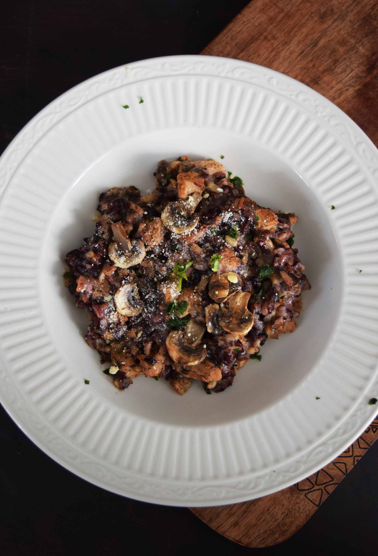 Loma Linda's Chik'n and Mushroom Risotto